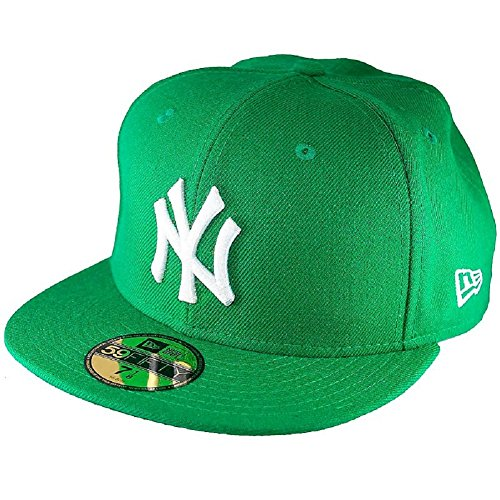 Adulti Mlb Baseball Weiss Yankees 59fifty Fitted Da Era Berretto Ny gruen  Basic Per New xw0XqZS5n 6184c5431795