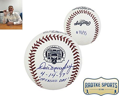 Dale Murphy Autographed Signed Mlb 2017 Atlanta Braves Suntrust Park Inaugural Season Baseball   Limited Edition 33 33