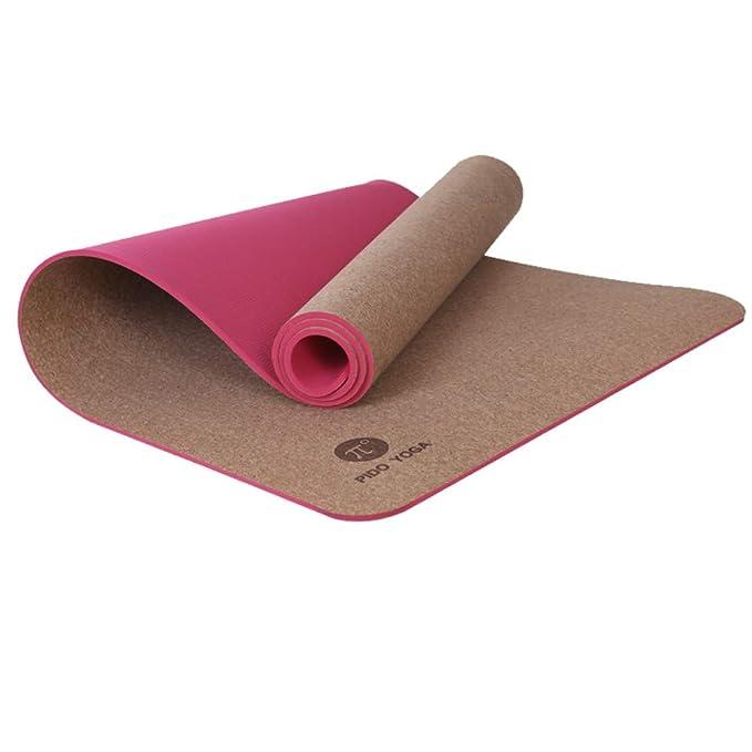 LMSHM Yoga Mat TPE Cork 183 * 66 * 0.6Cm Colchoneta De Yoga ...