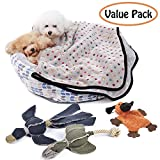 PAWZ Road Dog Bed and Blanket and Dog Squeaky Toys Set Super Gift Set for Small Dogs and Puppies For Sale