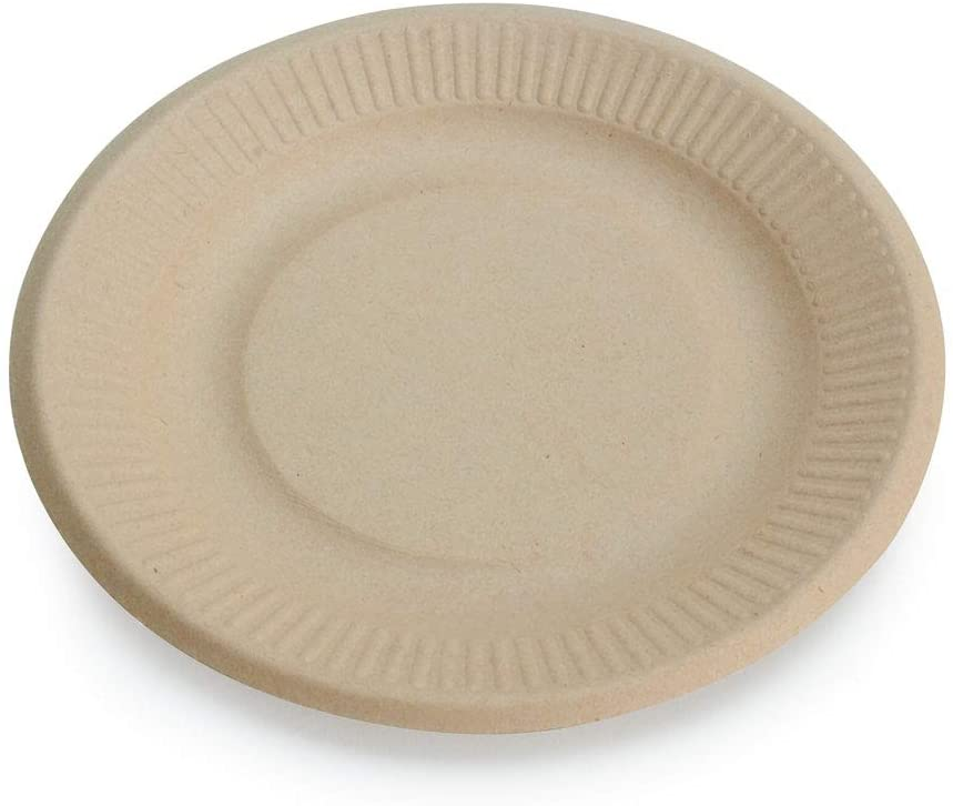 "Earth's Natural Alternative Wheat Straw Eco-Friendly, Compostable Plant Fiber 6"" Plate, 125 Count"