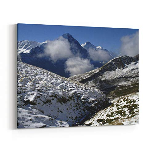 Rosenberry Rooms Canvas Wall Art Prints - Snow in Swiss Alps in August, Faulhorn, Interlaken, Switzerland (14 x 11 inches)