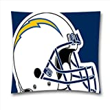 Penny G San Diego Chargers Square Throw Pillow Covers for NFL Fans 18x18 Inch (45x45 cm)