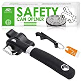 Can Opener, Stainless Steel Manual Can Bottle Opener with Smooth Edge, Handheld Bottle Tin Opener,...