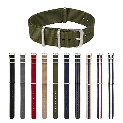ARCHER Watch Straps, Premium Nylon, Choice of Color and Size
