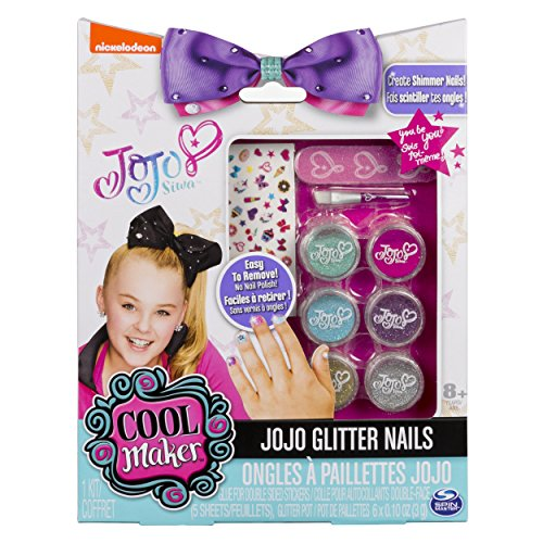 Cool Maker JoJo Siwa Glitter Nails - Glitter Manicure Kit Custom Decals