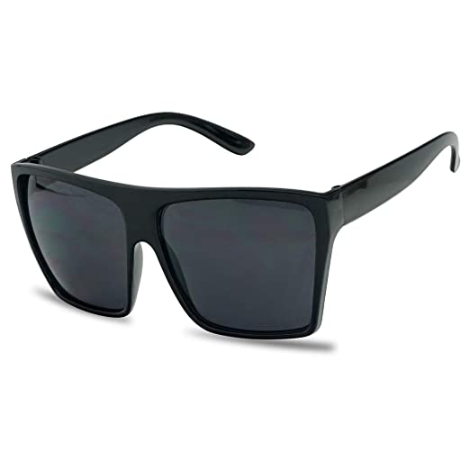 Amazon.com  SunglassUP Black Oversized Large XL Big Flattop Sunglasses Kim  Square Flat Top Boxed Causal Shades  Clothing 70db7cd99