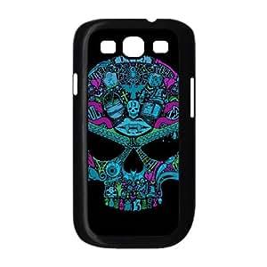 Samsung Galaxy S3 9300 Cell Phone Case Black Multi Color Skull A2M9HZ
