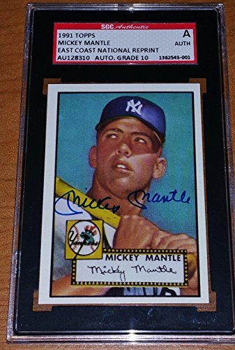 Photo of Autographed Mickey Mantle Baseball Cards