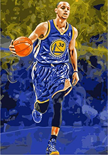 CZHXM DIY Digital Painting, Decorating Room, NBA Warriors American Professional Basketball Player Point Guard 40x50cm (Best 50 Nba Players Of All Time)