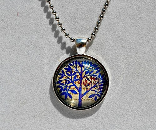 - Glass Dome Pendant Necklace with Chain Jewlery (Art Moderne Chain Necklace)