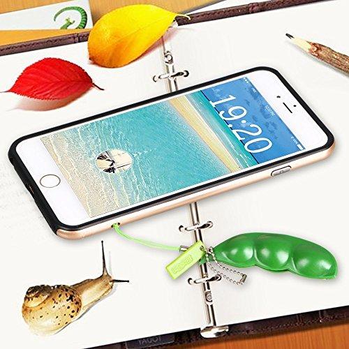 Fidget Toys,4Pcs Puchi Puti Mugen Edamame Keychain Keyring Extrusion Bean Pea Soybean Toys Gift (Random Expression)