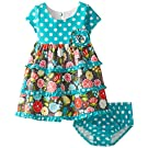 Bonnie Baby Baby Girls' Dot and Floral Tiered Dress