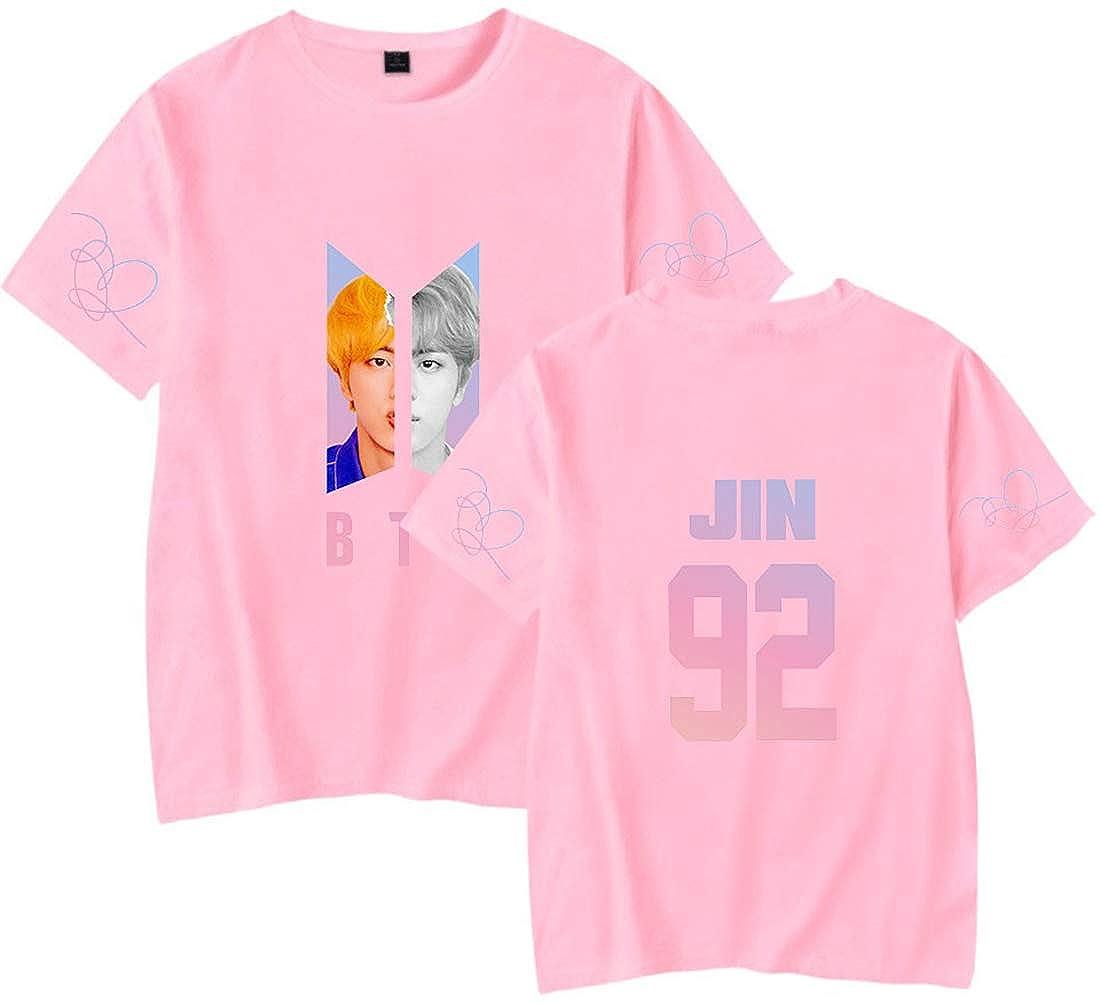 EMILYLE Damen BTS T-Shirt KPOP Jimin Jin J-Hope RM V Portrait Army Casual Cool Top