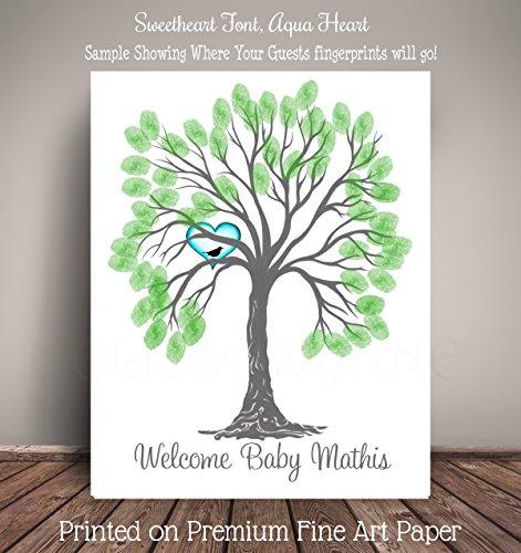 Amazon Baby Shower Guest Record Thumbprint Tree Nursery Art