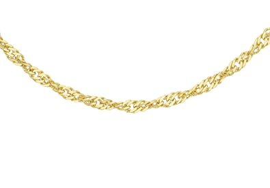 Carissima Gold Unisex 9 ct Yellow Gold Open Curb Chain of Length 51 cm SrAfcYC5