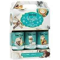 Jordan's Skinny Syrups Sugar Free Winter Syrup Trio - Cinnamon Vanilla, White Chocolate Mocha, Salted Caramel Swirl - Gluten Free, Kosher, Keto Friendly, Made In The USA