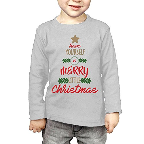 ZheuO Boys & Girls Baby Merry Little Christmas Soft and Cozy 100% Cotton Tee Unisex Gray 4 - Swimsuit Gwen