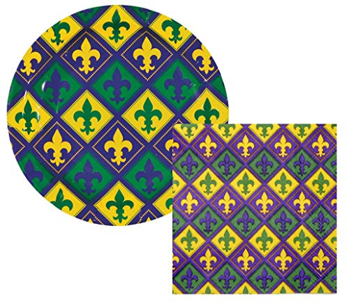 Mardi Gras Paper Plates and Napkins (16 Plates and 32 ()