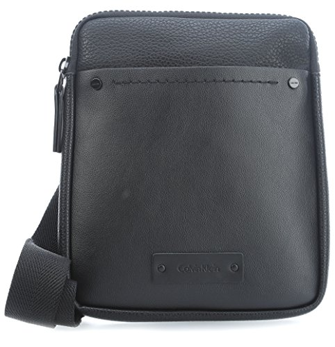Calvin Klein - Joah Flat Crossover, Shoppers y bolsos de hombro Hombre, Negro (Black), 3x27x22 cm (B x H x T)
