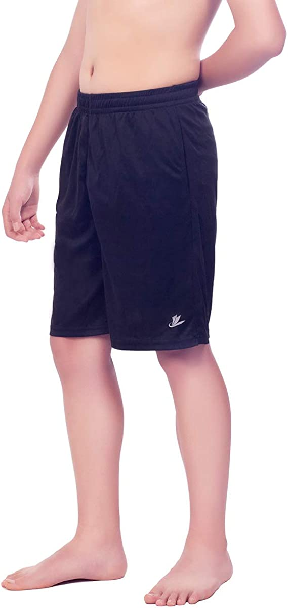 Devoropa Youth Boy's Athletic Basketball Shorts Loose-Fit Performance Sports Workout Shorts Side Pockets: Clothing