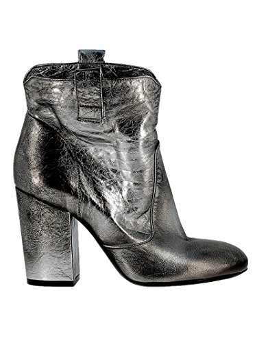 Elena Iachi Women's A3642 Silver Leather Ankle Boots vi6XnX