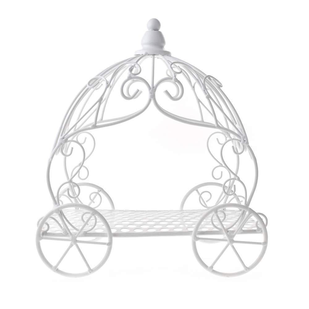 Homeford Metal Pumpkin Carriage, White, 12-Inch by Homeford (Image #1)