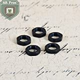 5/8X24 Thread Crush Washer Replacement Jam Nut For Locking and Position Adjustement, All Steel, Black Steel, 5PC Pack