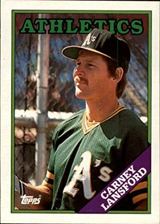 Amazoncom 1988 Topps Baseball Card 292 Carney Lansford