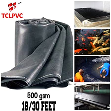 Tclpvc Saver deal 500 GSM Heavy Duty 18/30 feet Pond and Multipurpose Sheet Code – professional, Style – flexible tarp Made with Lab Made Rubber pvc Special chemical for waterproof and long life POND fish Business or Hobby Heavy Need For Tent Tarpaulin Covering PRODUCT CODE EPMM1500