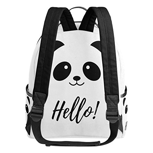 Use4 Hello Panda Love Heart Polyester Backpack School Travel Bag by ALAZA (Image #2)