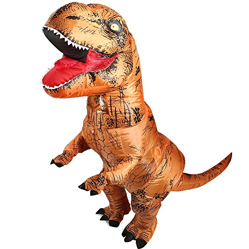 shuntao Trex Costume for Adult Inflatable T-rex Dinosaur Cosplay Suit Party (Dinosaur Inflatable Costume)