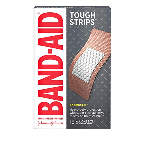 (Band-Aid Brand Tough Strips Adhesive Bandage for Minor Cuts & Scrapes, Extra Large Size, 10 ct)