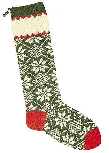 Christmas Stocking Knitting Kit; Scandinavian Snow by Candide