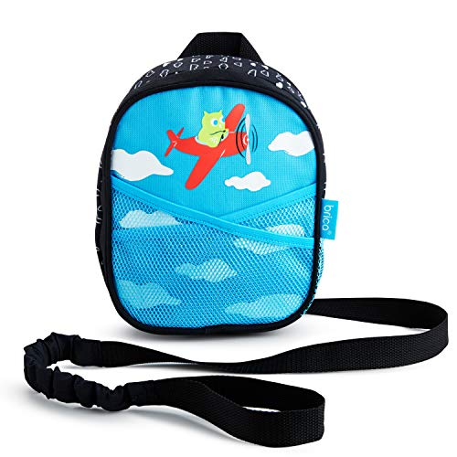 Munchkin Brica by-My-Side Baby Safety Harness Backpack, Owl, Blue