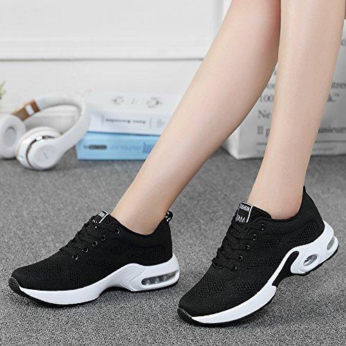 KOUDYEN de y Zapatillas Zapatos Fitness de Sneakers Negro Deporte Running Shoes Zapatillas Aire Libre Shoes Deportes Mujer 14q1p