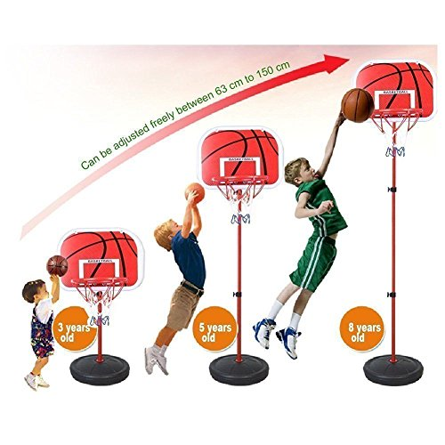 Kids Basketball Hoop Portable Adjustable Sport Outdoor/Indoor