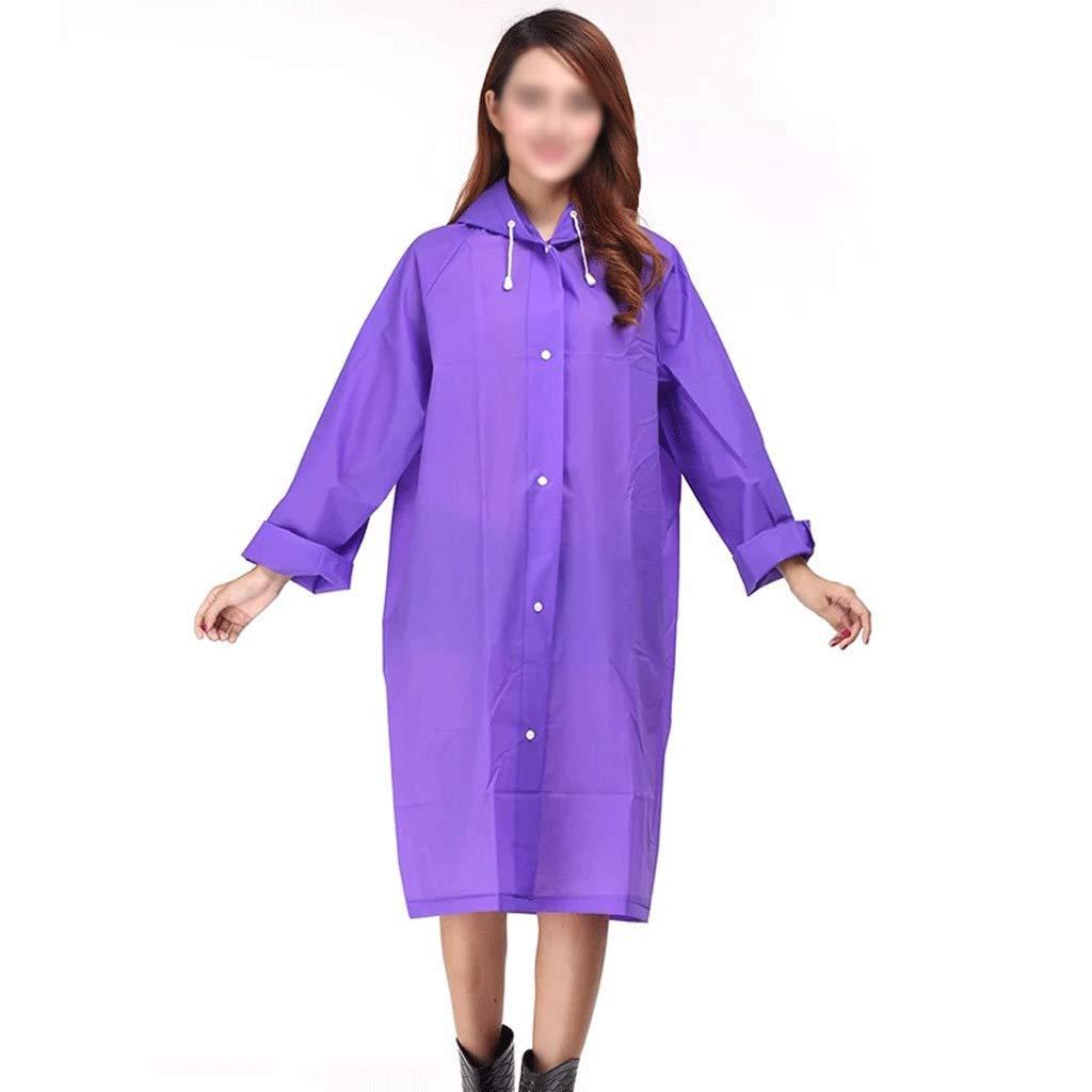violet S-1 pack Xuejuanshop-Vestes coupe-pluie Non-jetable Long Imperméable Adulte épaississeHommest épaississeHommest Simple Poncho Voyage portable Imperméable Imperméable