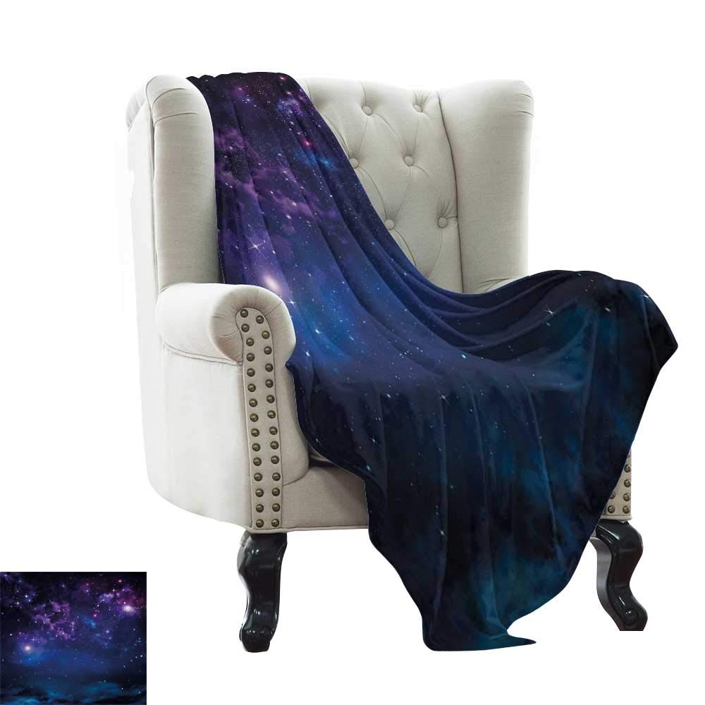 color06 50 x60  Inch Throw Blanket Space,Nebula Gas Cloud on Celestial Sphere Universe Themed Infinity Design Galaxy Art Print,Dark bluee Weighted Blanket for Adults Kids, Better Deeper Sleep 50 x60