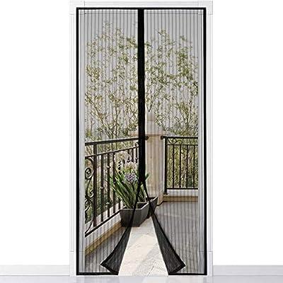 con cortina de malla resistente con 26 imanes 80 x 200cm Mosquitera Puerta Homitt Mosquitera magn/ética para puerta gancho y bucle de marco completo parte superior reforzada antidesgarro