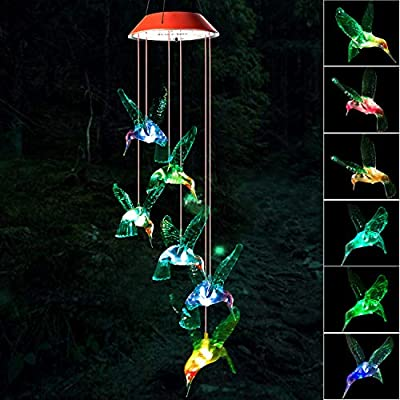 Wind Chime,Hummingbird Wind Chimes Outdoor Indoor,gifts for mom,hummingbird wind chime,solar wind chimes,mom gifts,birthday gifts for mom,grandma gifts,gardening gift,plastic hangers,outdoor decor