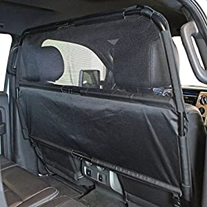 """Bushwhacker - Paws n Claws Deluxe Dog Barrier 56"""" Wide - Ideal for Trucks, Large SUVs, Full Sized Sedans - Patent Pending - Pet Restraint Car Backseat Divider Vehicle Gate Cargo Area"""