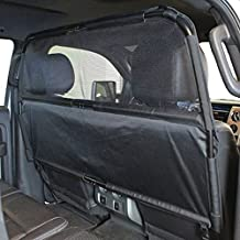 """Paws 'N' Claws - Deluxe Dog Barrier 56"""" Wide - Ideal for Trucks, Large SUVs, Full Sized Sedans - Patent Pending - Pet Restraint Car Backseat Divider Vehicle Gate Cargo Area"""