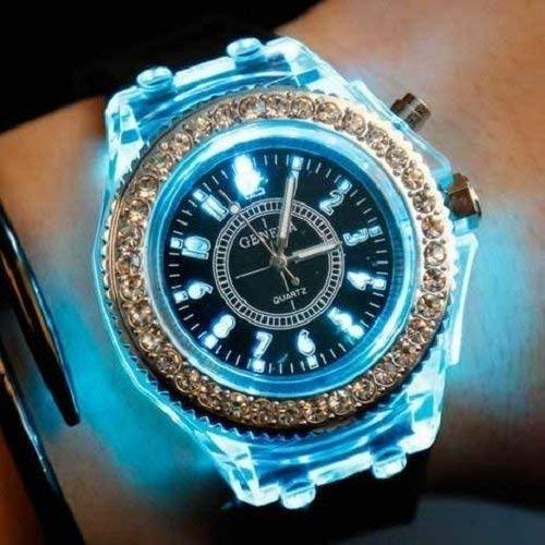 Amazon.com : RULONG 2017 Geneva Luminous LED Sport Watches Women Quartz Watch ladies Women Silicone Wristwatches glowing : Beauty