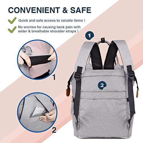 Waterproof KOOLPUG Baby Changing Bag Rucksack Multi-Function Diaper Bag Backpack Perfect for Mums /& Dads-Grey Nappy Changing Bag Backpack Travel Rucksack Backpack for Baby| Large Capacity