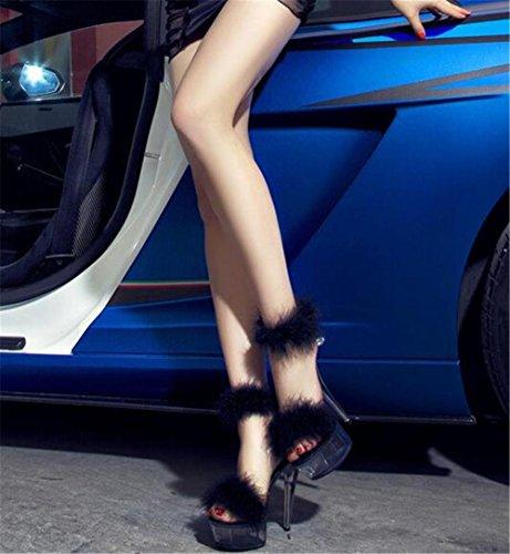 piuma Tacco 35 GAOGENX 41 donna Scarpe di da a cristallo Dimensioni Tacco EU36 spillo a Piattaforma Sexy Party Club da trasparente ffZTw4q1