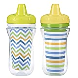 The First Years 2 Piece Insulated Hard Spout Cup, White/Green/Blue/Orange/Yellow
