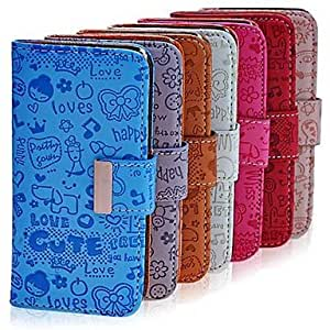 DUR sold out Lureme Cartoon Girl Full PU Leather Body Case For iPhone 5/5S , Gray