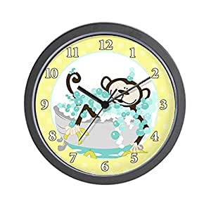 Amazon Com Cafepress Monkey In Tub Bathroom Wall Clock