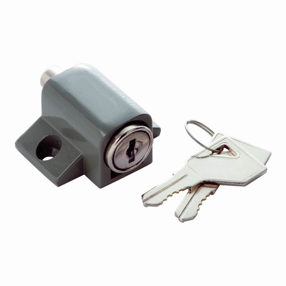 Keyed Patio Lock in Grey (Set of 10) (Keyed Individually)